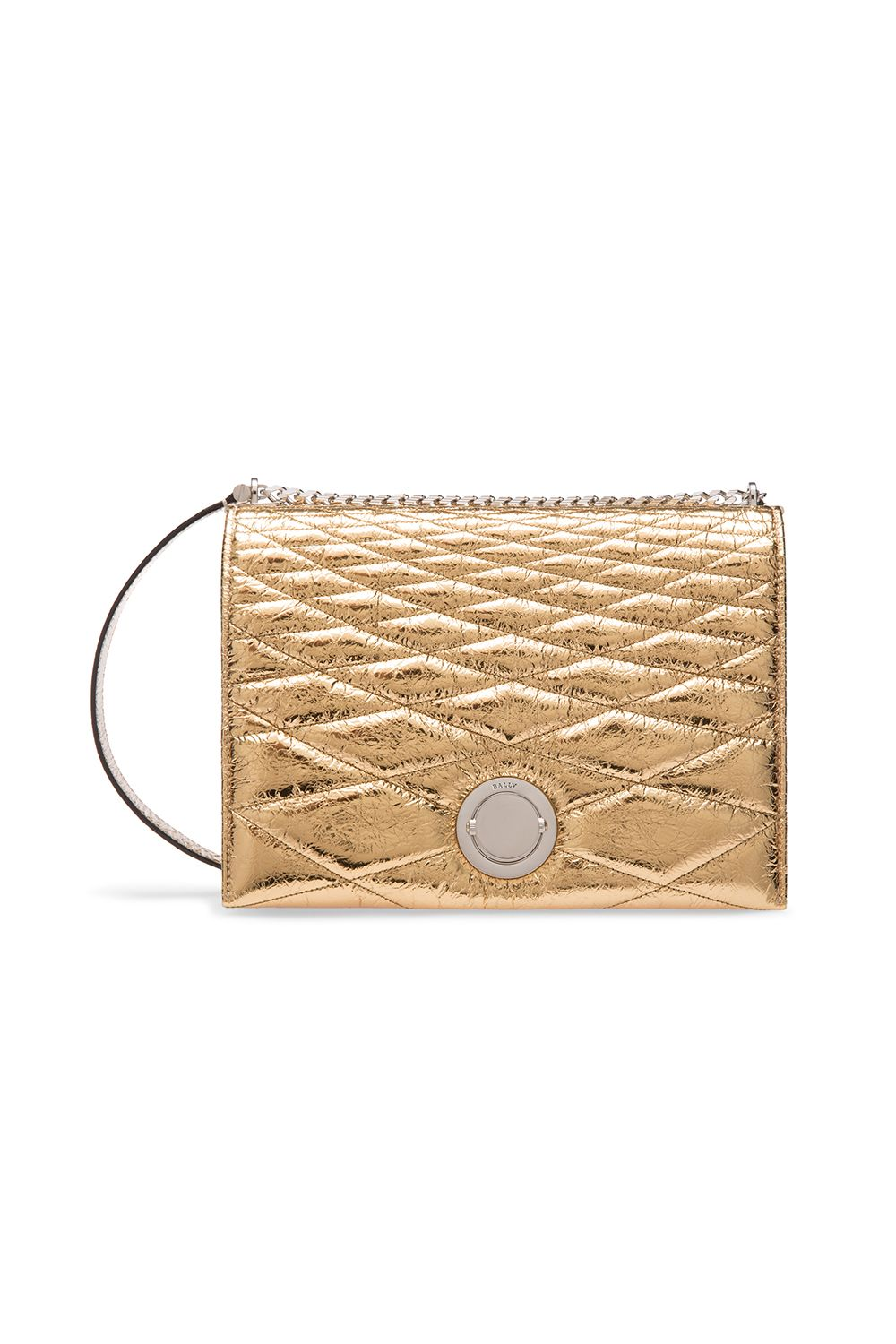 """<p>Stand out from the little-black-bag crowd with a gold style that gives off serious '70s disco vibes.</p><p>$1,995, available at Bally Rodeo Drive<span class=""""redactor-invisible-space"""" data-verified=""""redactor"""" data-redactor-tag=""""span"""" data-redactor-class=""""redactor-invisible-space"""">.</span><br></p>"""