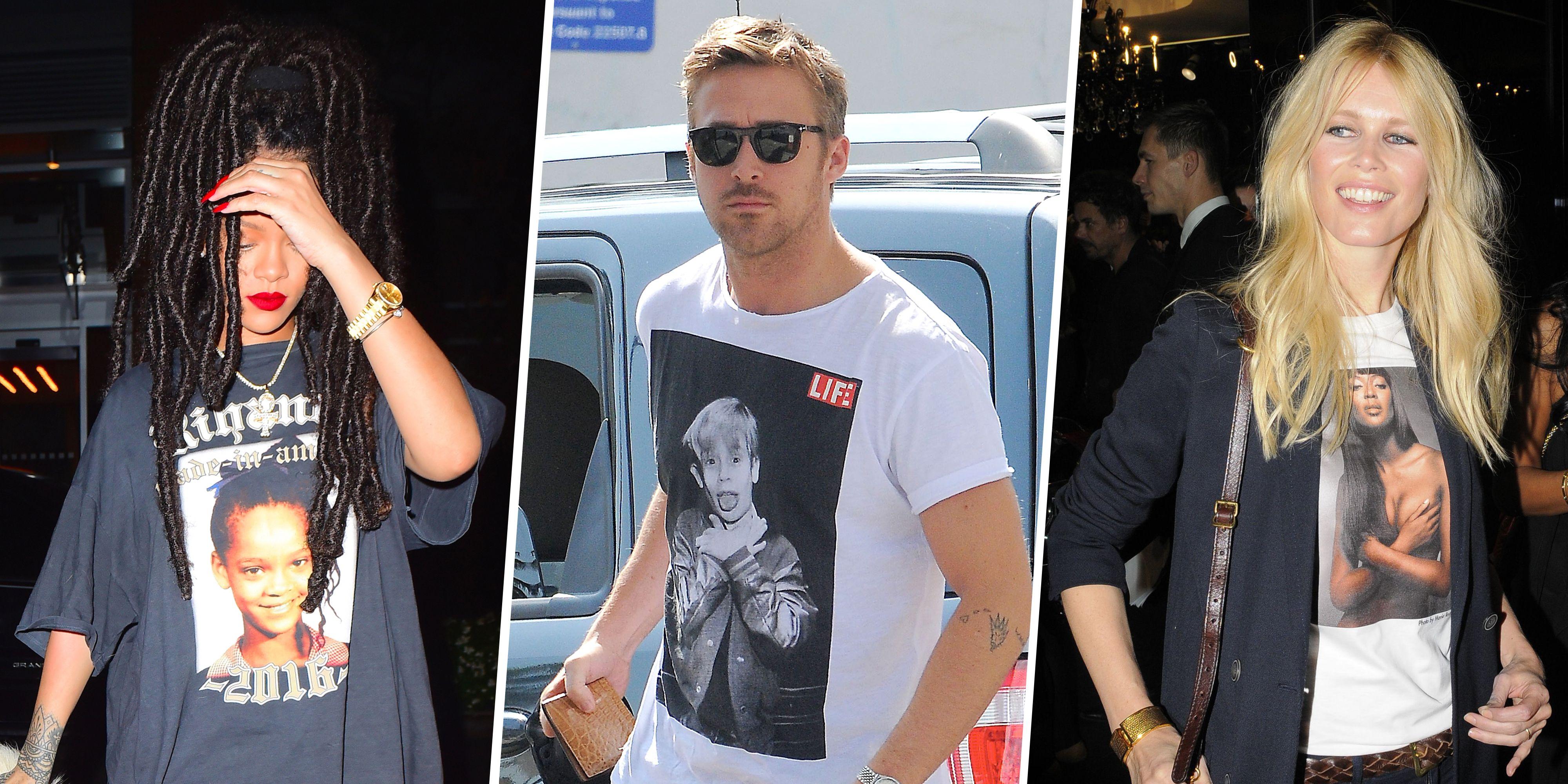 fb4c896d1 Celebrities Wearing Photos of Other Celebrities - Celebrity Meta T ...