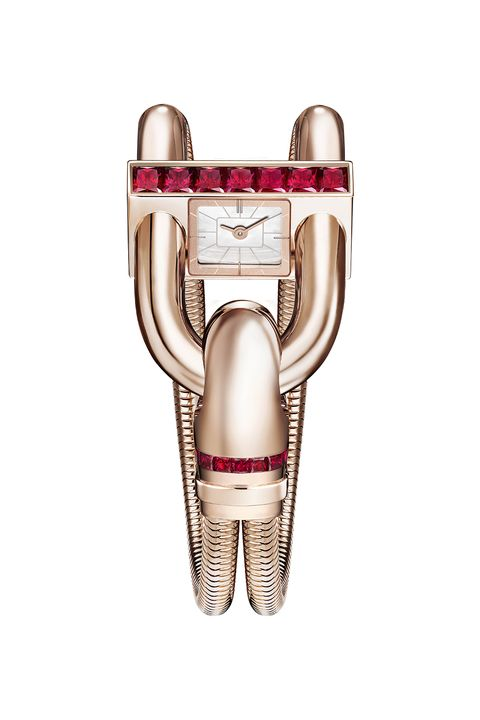 """<p>Also known as The Legendary Line, the Cadenas timepiece combines a watch and bracelet, creating the ultimate&nbsp;must-have.<br></p><p>Retail price:&nbsp;$71,000<span class=""""redactor-invisible-space"""" data-verified=""""redactor"""" data-redactor-tag=""""span"""" data-redactor-class=""""redactor-invisible-space""""></span><br></p><p><span class=""""redactor-invisible-space"""" data-verified=""""redactor"""" data-redactor-tag=""""span"""" data-redactor-class=""""redactor-invisible-space""""></span></p>"""