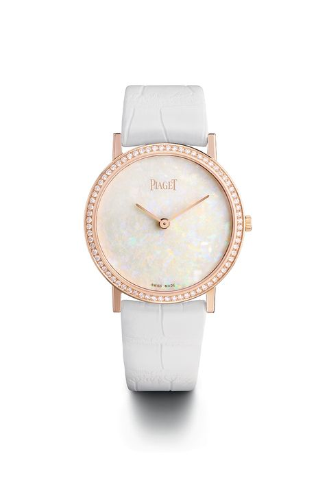 <p>What better way to celebrate the 60th anniversary launch of the Altiplano than with an 18-karat rose gold timepiece equipped with 72 brilliant-cut diamonds on a white alligator strap?<br> </p><p>Retail price: $48,000<br></p>