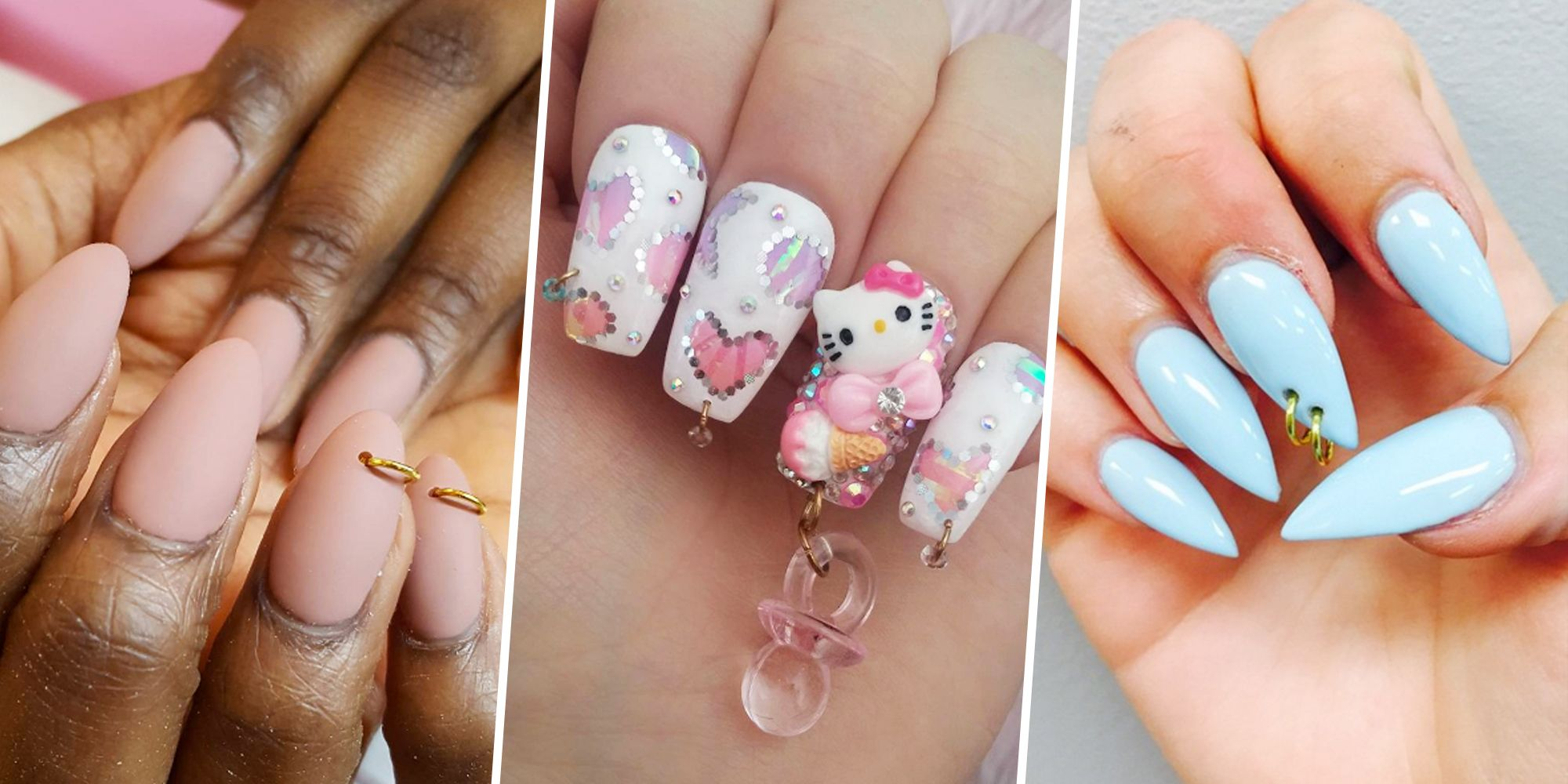 Nail Piercing Trend - Nail Dangle Accessories