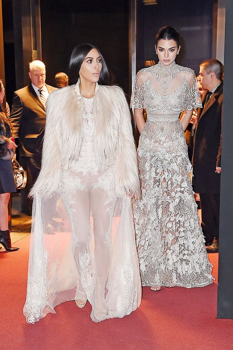 "<p>Kim and Kendall were spotted filming scenes from the <em data-redactor-tag=""em"" data-verified=""redactor"">Ocean's 8's </em><span class=""redactor-invisible-space"" data-verified=""redactor"" data-redactor-tag=""span"" data-redactor-class=""redactor-invisible-space"">faux</span>&nbsp;Met Gala—where the film's heist is set to go down. In fact,&nbsp;word on the street is Kim's <em data-redactor-tag=""em"" data-verified=""redactor"">extremely</em> ironic&nbsp;role involves her actually&nbsp;<a href=""http://pagesix.com/2017/01/17/kim-kardashians-oceans-eight-cameo-involves-a-jewelry-heist/"" target=""_blank"" data-tracking-id=""recirc-text-link"">being the victim of said heist</a>.&nbsp;</p>"