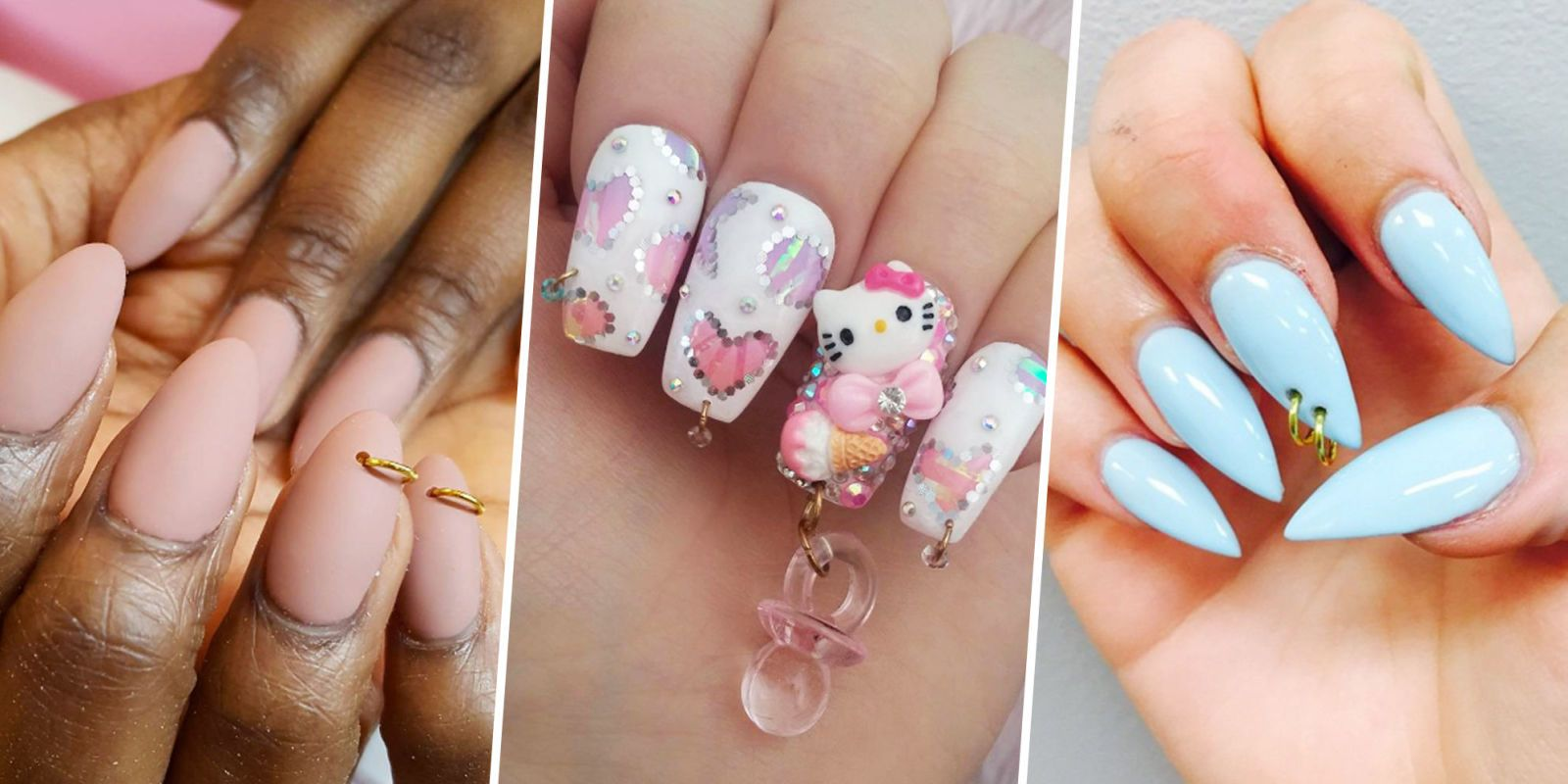 The Nail Piercing Trend Is Peak '90s—And We're Here for It