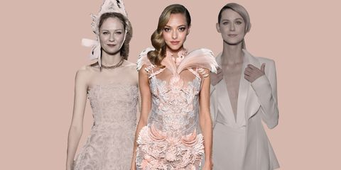 Clothing, Head, Eye, Dress, Style, Formal wear, Headpiece, Hair accessory, Tiara, Beauty,