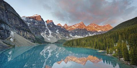 Body of water, Nature, Mountainous landforms, Natural landscape, Water resources, Reflection, Mountain range, Landscape, Highland, Mountain,