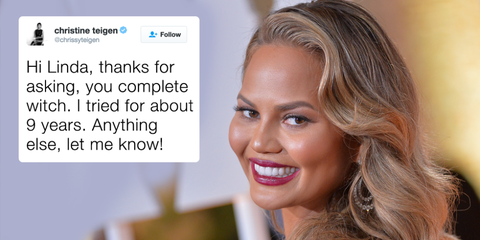 Chrissy Teigen Brilliantly Shuts Down Troll Who Dared to Question Her Baby Making Efforts