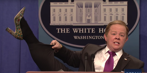 Melissa McCarthy as Sean Spicer on SNL