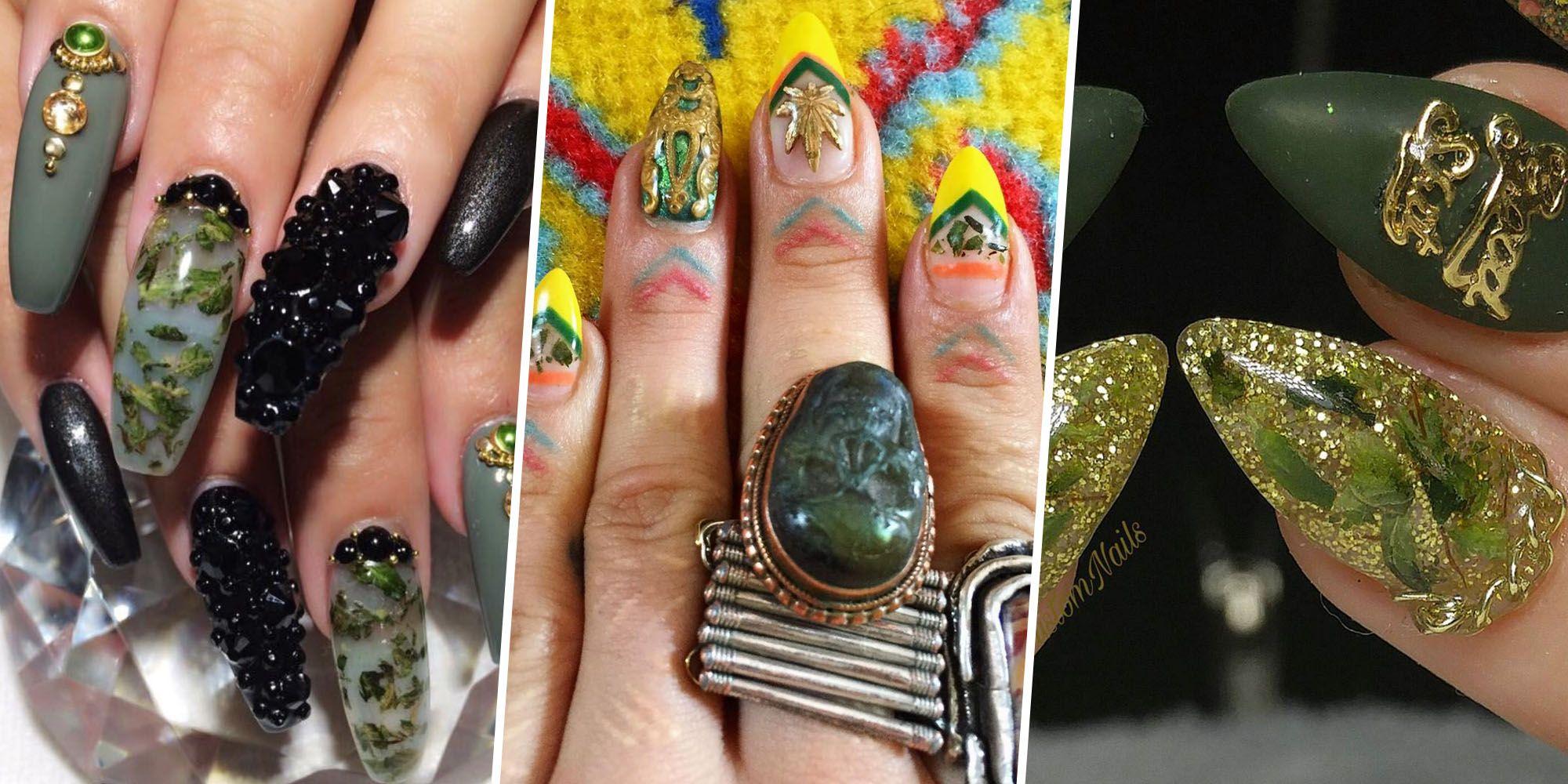 Weed Nails Trend - Marijuana Nail Art