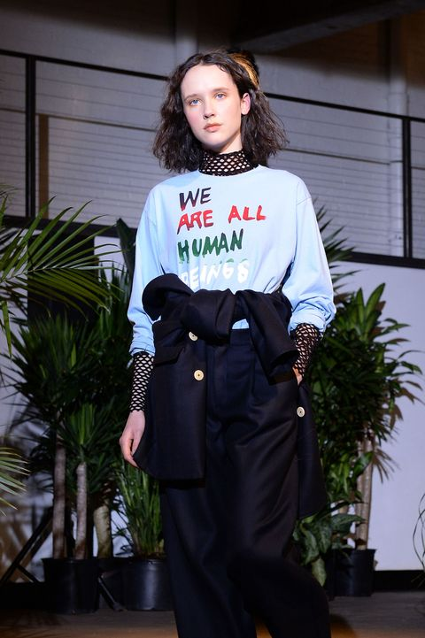 <p>Creatures of Comfort creative director Jade Lai&nbsp;designed&nbsp;a unifying&nbsp;sweatshirt protesting&nbsp;the xenophobic statements of the Trump administration.&nbsp;</p>