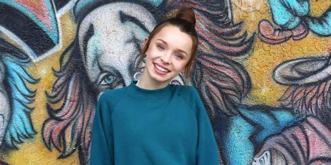 Human, Happy, Style, T-shirt, Iris, Organ, Cool, Purple, Art, Tooth,
