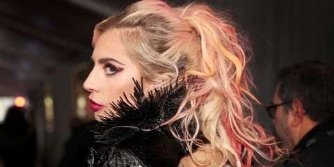 Hair, Head, Suit, Coat, Fashion, Flash photography, Tattoo, Blond, Long hair, Makeover,