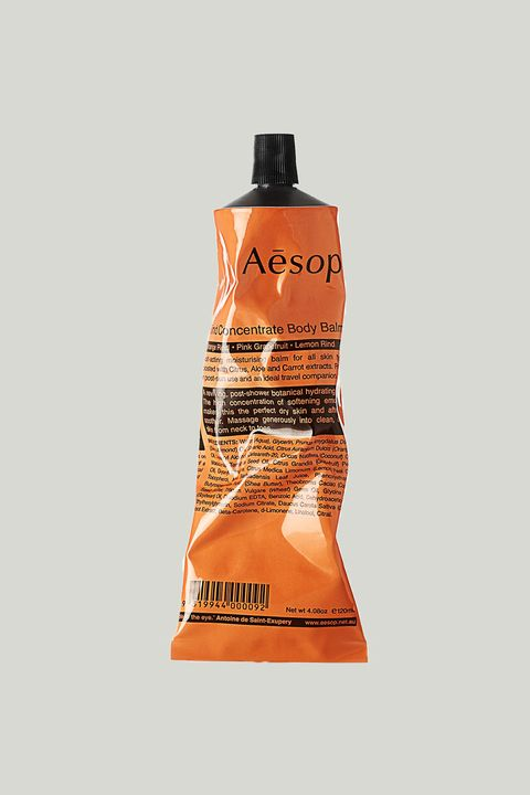 "<p><span class=""redactor-invisible-space"" data-verified=""redactor"" data-redactor-tag=""span"" data-redactor-class=""redactor-invisible-space"">For itchy dry spots, pat on Aesop's aloe vera-enriched body balm that smells like an orange grove (though not in an overpowering way) and makes your skin feel cool-to-the-touch after application. </span></p><p><strong data-redactor-tag=""strong"">$35;&nbsp;<a href=""https://www.net-a-porter.com/us/en/product/337112?cm_mmc=ProductSearchPLA-_-US-_-BathandBody-Aesop-Google&amp;gclid=CjwKEAiAoOvEBRDD25uyu9Lg9ycSJAD0cnByasAqdbvk5xKrodEC74hWsTl0WGpdD3vu3zvLyi1-zBoCrSDw_wcB"" target=""_blank"" data-tracking-id=""recirc-text-link"">net-a-porter.com</a>.</strong></p>"