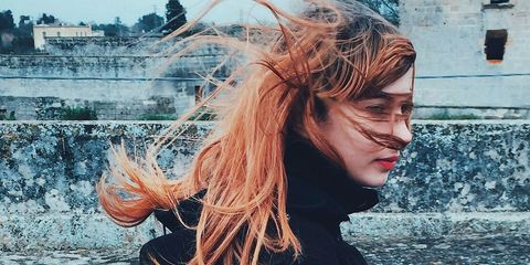 Street fashion, Cool, Long hair, Red hair, Portrait photography, Hair coloring,