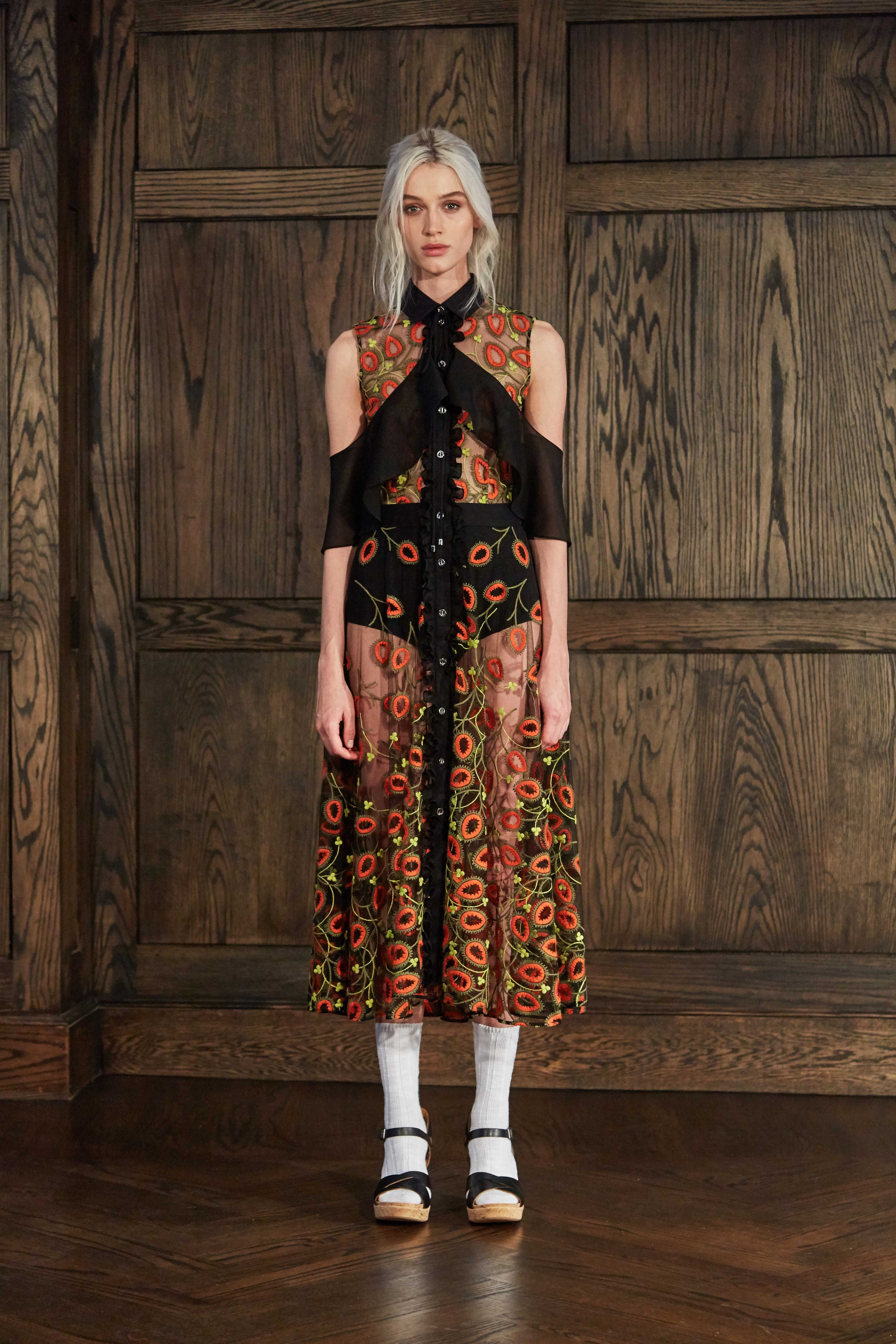 "<p>For the <a href=""http://www.marieclaire.com/fashion/news/a21158/ohlin-d-brand-intro/"" target=""_blank"" data-tracking-id=""recirc-text-link"">impressive brand</a>'s third presentation, designers Anne Deane and Jacob Park<span class=""redactor-invisible-space"" data-verified=""redactor"" data-redactor-tag=""span"" data-redactor-class=""redactor-invisible-space""> took last season's lost-in-the-big-city Little Bo Peep to school, referencing ""off-duty"" academics with high collars and pussy bows, and continuing their artist collaboration series with Emily Russell<span class=""redactor-invisible-space"" data-verified=""redactor"" data-redactor-tag=""span"" data-redactor-class=""redactor-invisible-space"">'s watercolors. Look to this duo for clever, not-too-sweet sportswear and the coziest knits.</span></span></p>"