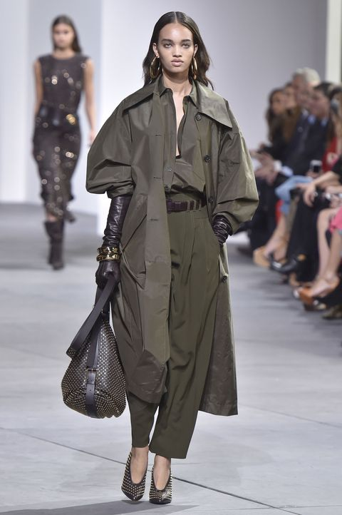 "<p>Steadfast and practical, Taurus will naturally gravitate toward khaki, one of spring's favorite fabrics, seen here at Michael Kors. But no pleated slacks for you—instead, branch out with a billowy trench-inspired top *and* pants that could fit you and two friends. And don't forget your <a href=""http://www.marieclaire.com/fashion/news/g4077/mega-earrings-spring-17/"" target=""_blank"" data-tracking-id=""recirc-text-link"">mega earrings</a>. &nbsp;</p>"