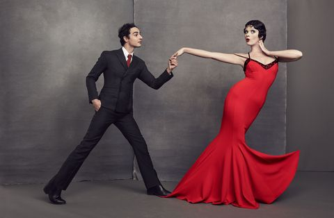 Human body, Standing, Coat, Formal wear, Suit, Dress, Fashion, Animation, Suit trousers, Gown,