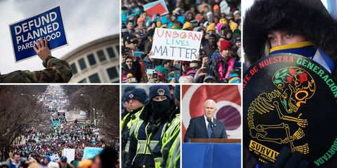 Scenes From The March For Life Pro Anti Abortion Rally January 2017