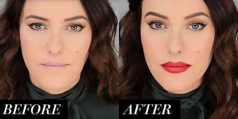 Lisa Eldridge Overlining Plumping Lips Tutorial Video