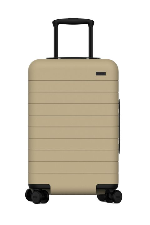 """<p>Fits way more stuff than you'd think into two neatly zippered halves, charges your phone, and is so indestructible the Hulk could have a go at it and lose. (Pssst...they now have a collab with Pop + Suki. Meaning pink suitcases, so .)&nbsp;</p><p>$345, <a href=""""https://www.awaytravel.com/luggage/carry-on/"""" target=""""_blank"""" data-tracking-id=""""recirc-text-link"""">awaytravel.com</a>.</p>"""