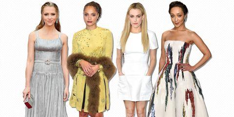Clothing, Dress, Shoulder, Waist, Style, One-piece garment, Formal wear, Pattern, Day dress, Fashion,