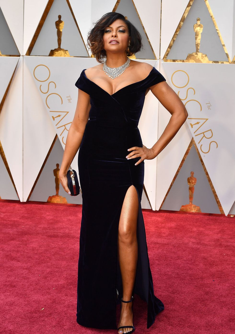 Taraji P. Henson, 2017 This va-va-voom Alberta Ferretti look on Taraji P. Henson is understated, but speaks volumes about her style, confidence, and killer body, as many Internet users pointed out.
