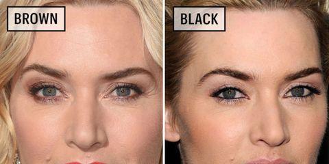 Croissant Celebrities Wearing Black Versus Brown Eyeliner - Why You Should LQ-52