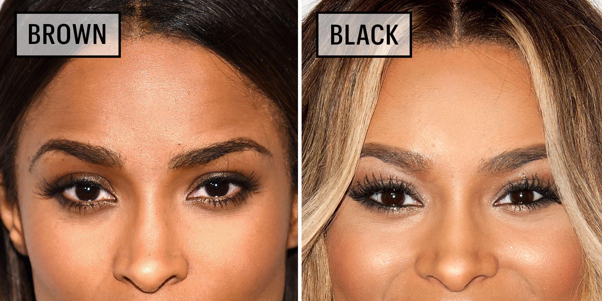 Celebrities Wearing Black Versus Brown Eyeliner - Why You Should Wear Brown Eyeliner