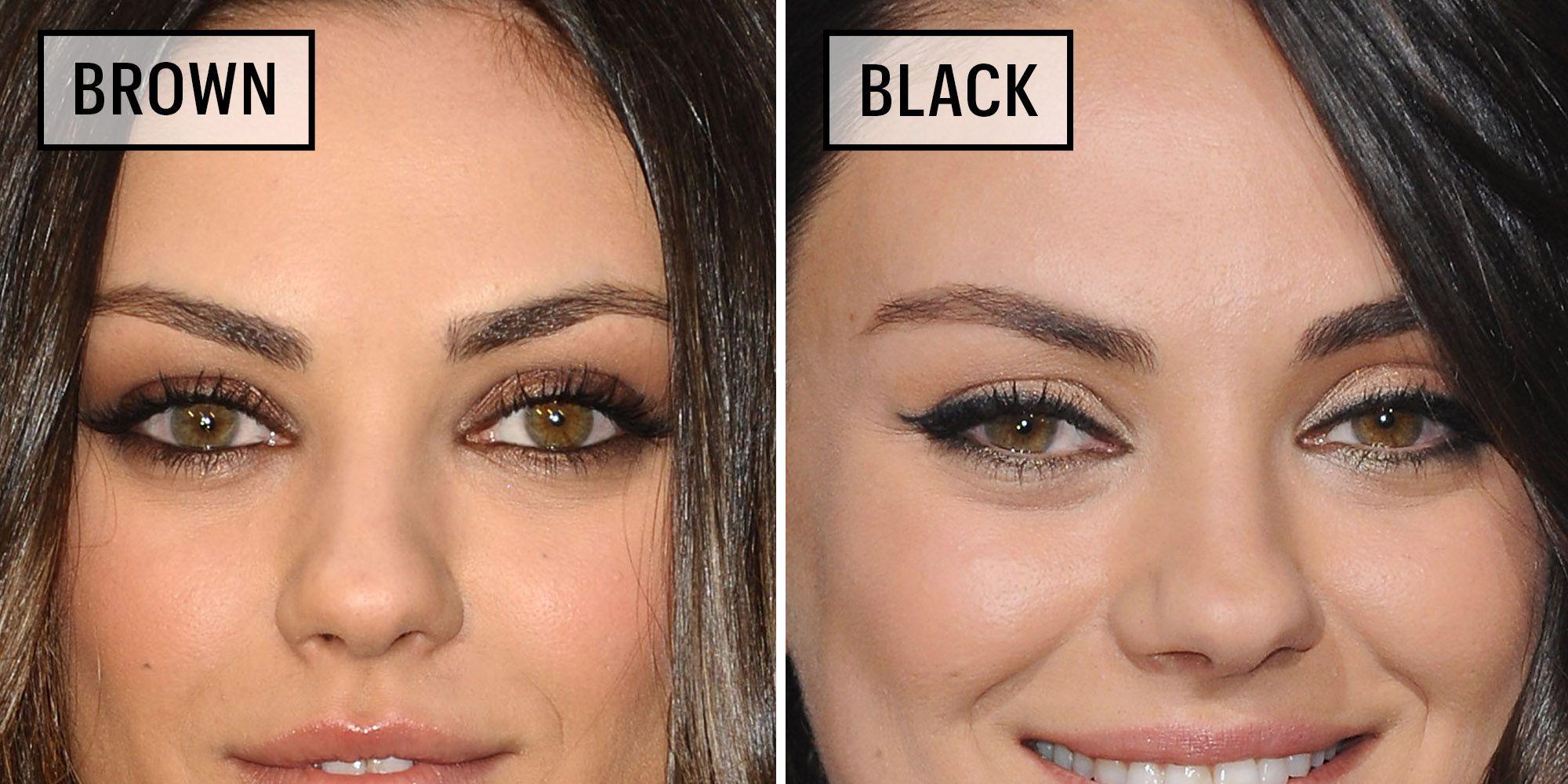 Black Brown Liner Eyes Eye Pencil Wiring Diagrams Spp0244 Tecnowind Cooker Celebrities Wearing Versus Eyeliner Why You Should Rh Marieclaire Com Caucasian Person
