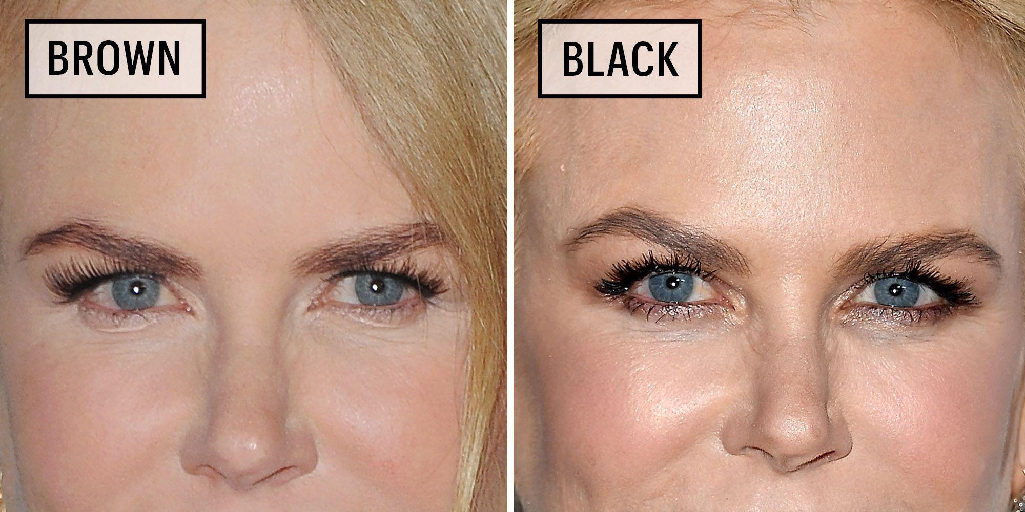 Celebrities Wearing Black Versus Brown Eyeliner Why You Should