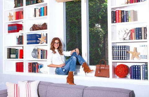 Textile, Room, Shelf, Shelving, Jeans, Denim, Interior design, Publication, Bookcase, Home,