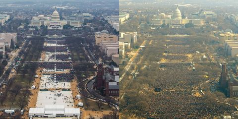Trump inauguration vs. Obama inauguration