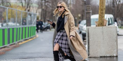 Clothing, Sleeve, Infrastructure, Road, Textile, Street, Outerwear, Sunglasses, Street fashion, Style,