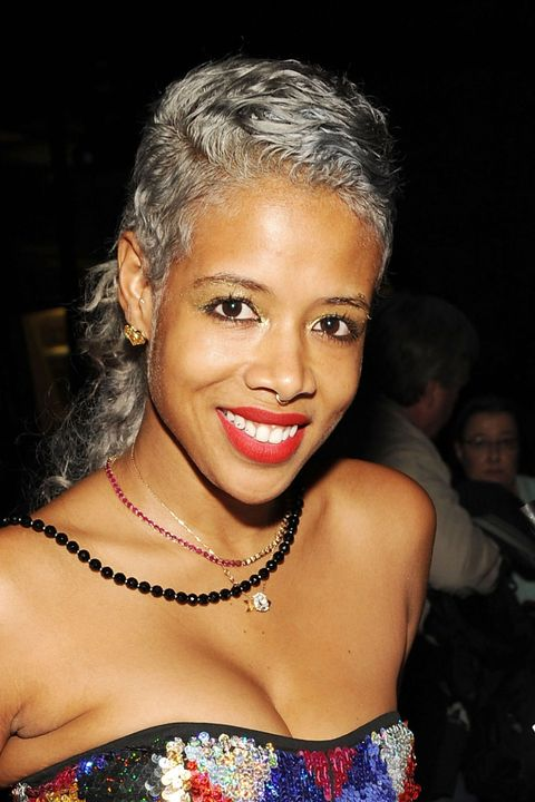 <p>Kelis styled her moonstone-hued waves into a cool, mullet-inspired&nbsp&#x3B;style.</p>