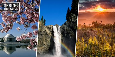 Natural landscape, Nature, Waterfall, Collage, Sky, Colorfulness, Water resources, Water, Tree, Watercourse,