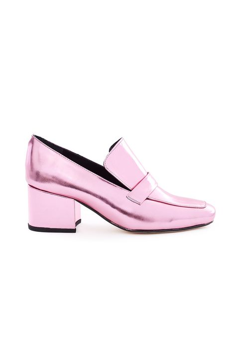 "<p>Admit it: You were going to buy these pink foil loafers anyway.&nbsp;</p><p>$485, <a href=""https://www.openingceremony.com/womens/dorateymur/heeled-loafers-ST97471.html"" target=""_blank"" data-tracking-id=""recirc-text-link"">openingceremony.com</a>.</p>"