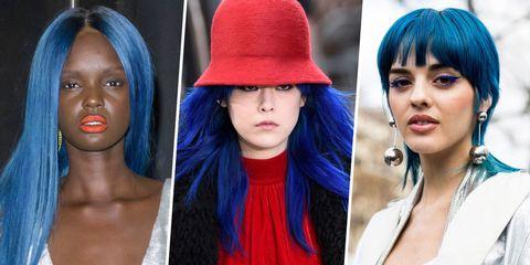 Nose, Blue, Lip, Hairstyle, Chin, Eyebrow, Eyelash, Style, Organ, Beauty,