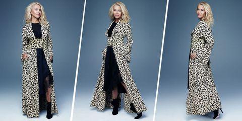 Clothing, Fashion model, Dress, Fashion, Sleeve, Outerwear, Neck, Fashion design, Formal wear, Pattern,