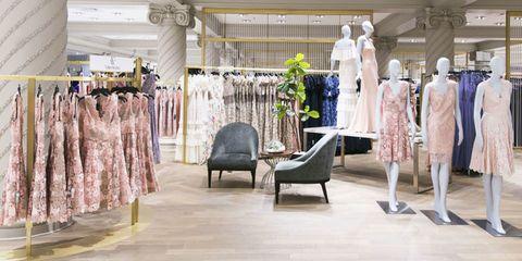 Boutique, Fashion, Dress, Fashion design, Building, Outlet store, Retail, Textile, Room, Interior design,