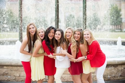 Photograph, People, Facial expression, Red, Social group, Friendship, Fun, Youth, Skin, Smile,