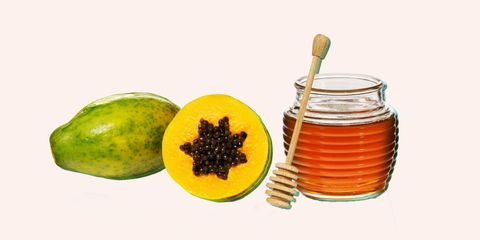 honey and papaya homemade face mask