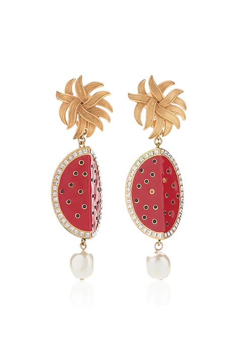 """<p>Wear these to feel like you've been sipping <a href=""""http://www.marieclaire.com/food-cocktails/news/a25856/beyonce-new-watermelon-water-flavors/"""" target=""""_blank"""" data-tracking-id=""""recirc-text-link"""">watermelon water allllllll</a> day long.&nbsp;</p><p><strong data-redactor-tag=""""strong"""" data-verified=""""redactor"""">Dolce &amp; Gabbana Watermelon Earrings, $795; <a href=""""https://www.modaoperandi.com/dolce-gabbana-r17/wej2f6w000187579"""" data-tracking-id=""""recirc-text-link"""">modaoperandi.com</a>.</strong></p>"""