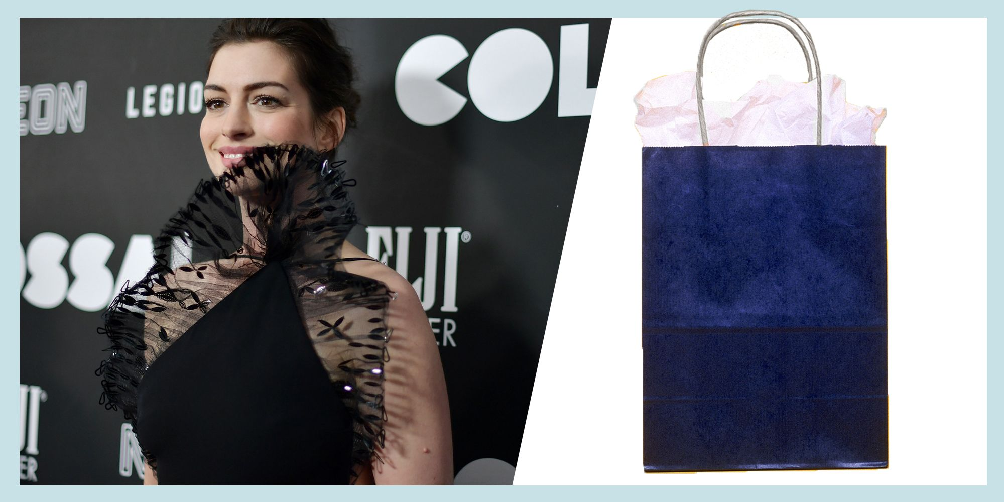 "<p>Most recently, Anne Hathaway attended the New York premiere of <em data-verified=""redactor"" data-redactor-tag=""em"">Colossal</em><span class=""redactor-invisible-space"" data-verified=""redactor"" data-redactor-tag=""span"" data-redactor-class=""redactor-invisible-space""> <span class=""redactor-invisible-space"" data-verified=""redactor"" data-redactor-tag=""span"" data-redactor-class=""redactor-invisible-space"">in vintage Armani</span><em data-verified=""redactor"" data-redactor-tag=""em"">. </em></span>Or was it Anne Hathaway? No one can really be sure with that lace frill hiding her chin, much like a tuft of tissue paper sticking out of a kid's birthday present. </p>"