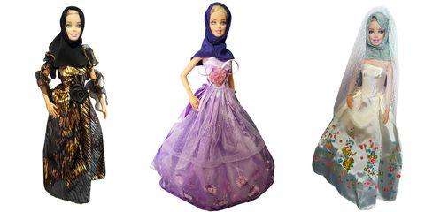 Barbie dolls in Muslim Clothing