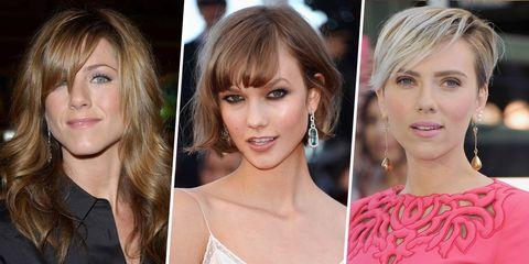 26 celebrity side bangs styles of 2017 perfect for hair flipping
