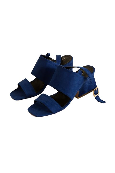 "<p>A walkable block-heel sandal in a shocking shade of cobalt.&nbsp;</p><p>$82, <a href=""https://theloeil.com/collections/shoes/products/oleron-sandal-blue"" target=""_blank"" data-tracking-id=""recirc-text-link"">theloeil.com</a>.</p>"