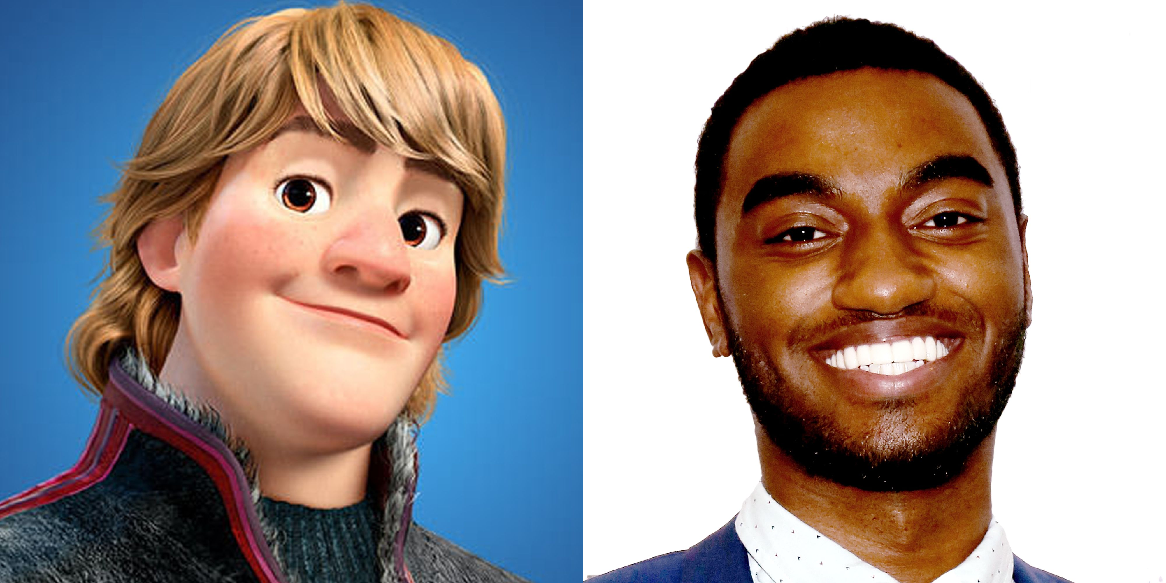 frozen musical casts black actor as kristoff kristoff actor in