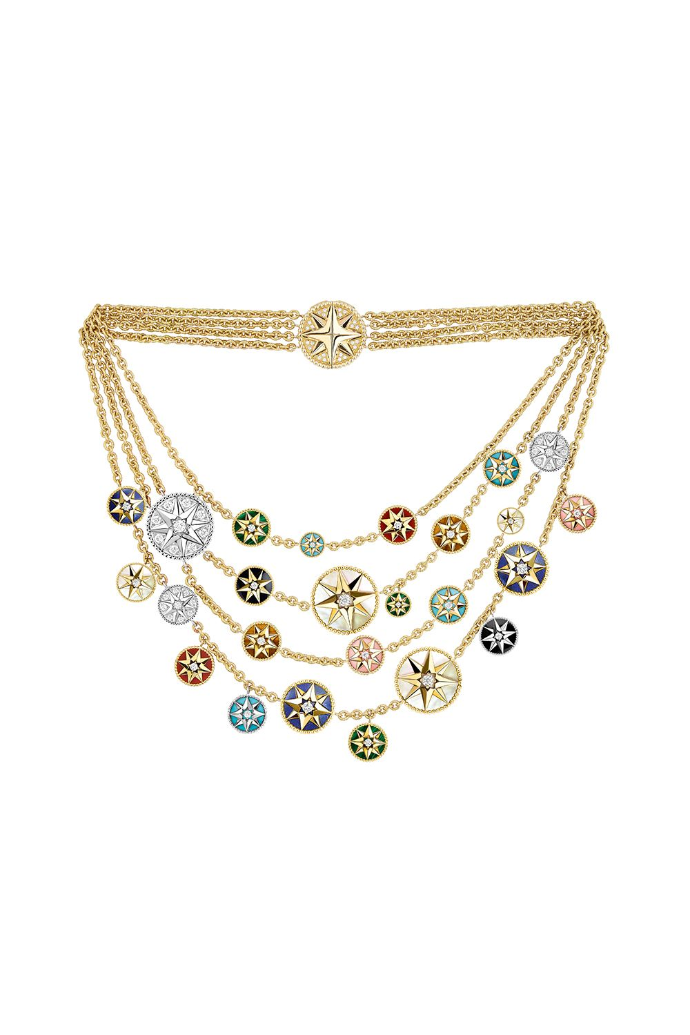 "<p>Dior makes a case against the less-is-more jewelry philosophy with its medallion charm necklace. The motifs on the discs and the natural sway of the necklace when worn are an ode to the ocean, travel, and creation.<span class=""redactor-invisible-space"" data-verified=""redactor"" data-redactor-tag=""span"" data-redactor-class=""redactor-invisible-space""></span></p><p>Dior Rose des Vents Necklace, price upon request, available at select Dior boutiques.</p>"