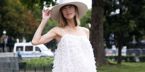 White, Clothing, Dress, Photograph, Beauty, Skin, Shoulder, Hat, Fashion, Pink,