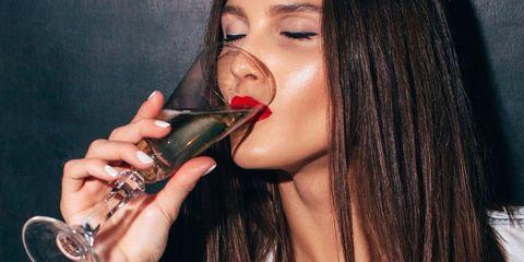 Lip, Nail, Beauty, Black hair, Eyelash, Organ, Earrings, Drinking, Long hair, Lip gloss,