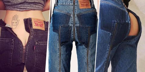 The History of Those Bare Butt Jeans the Internet Is Freaking Out Over